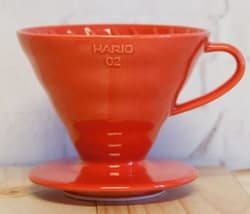 Red Hario V60 Coffee Dripper