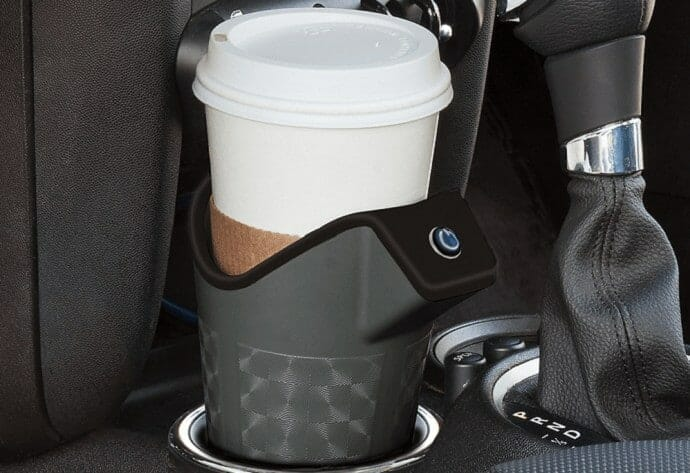 coffee cup in a car holder