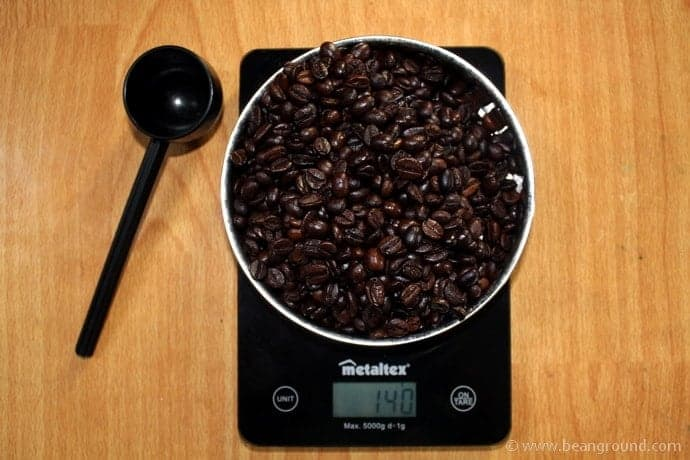 Weigh And Grind The Coffee