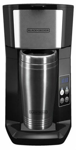 Black+Decker Programmable Single Serve Coffee Maker with Travel Mug