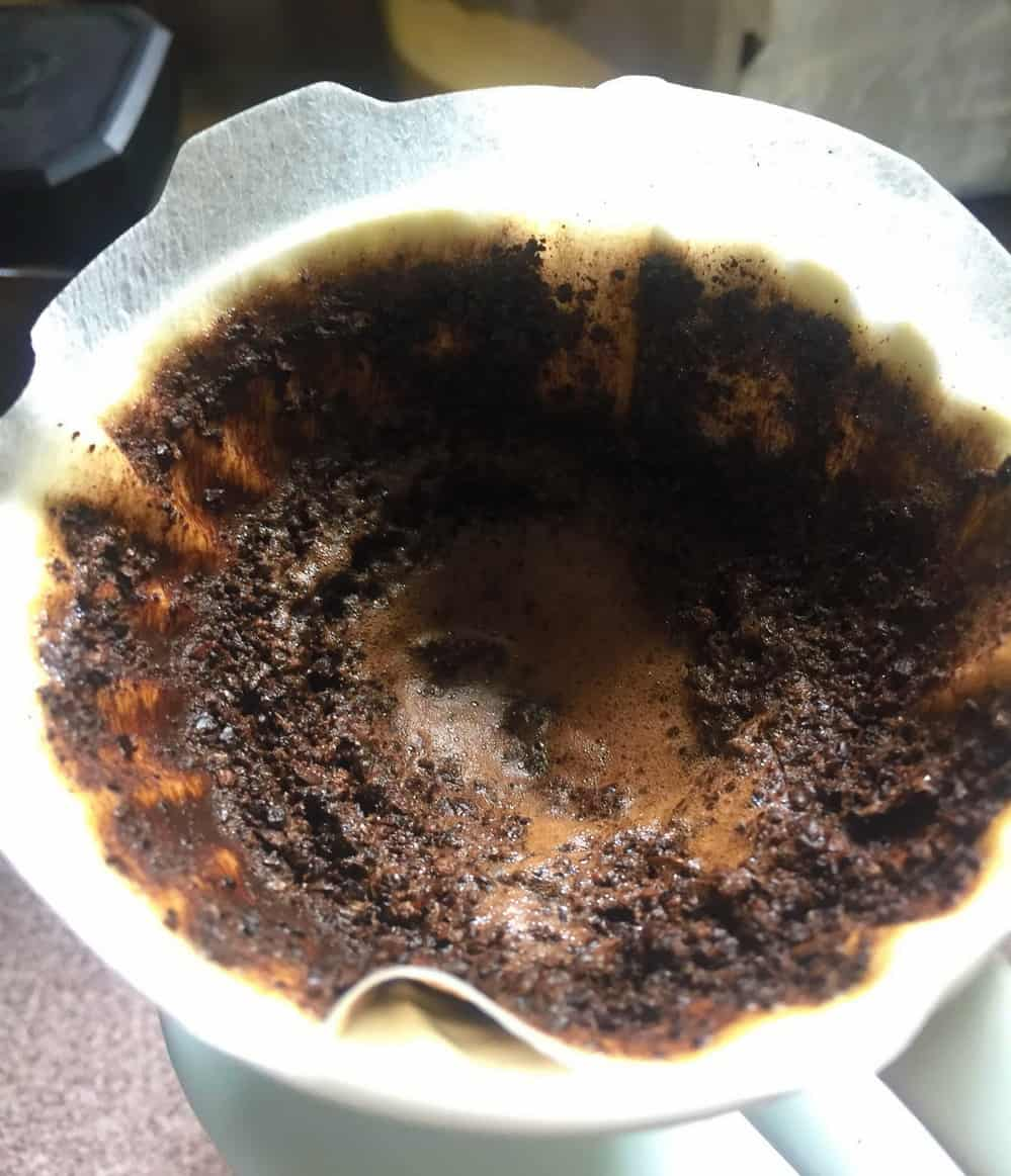 coffee channeling hario v60