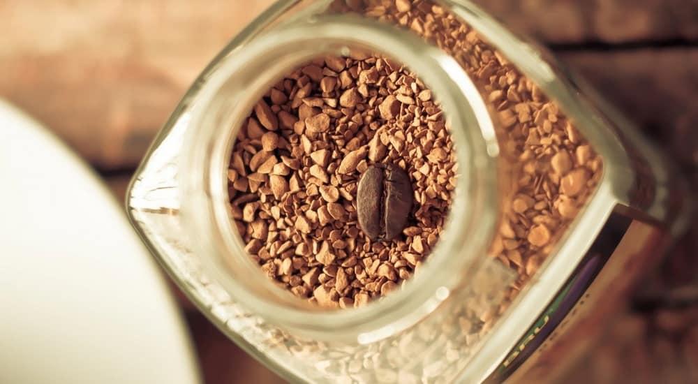 instant coffee inside of a jar